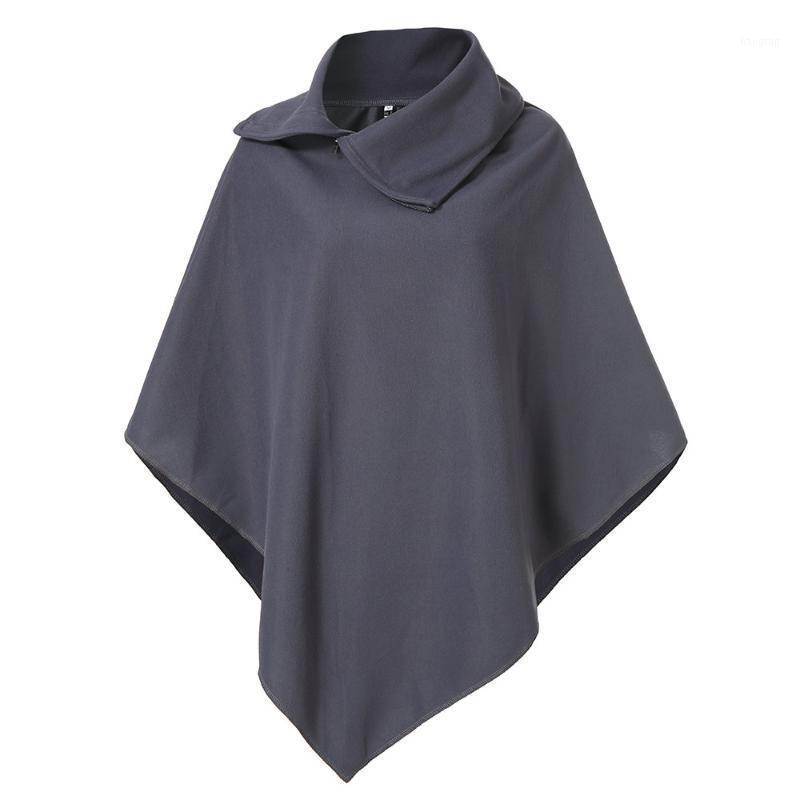 Chaquetas para mujer Abrigos de mujer Abrigo para mujer Invierno Zumper Solapa suelta irregular camisa peludo Capa Chaqueta Casual Femenino Autumn Casaco A81