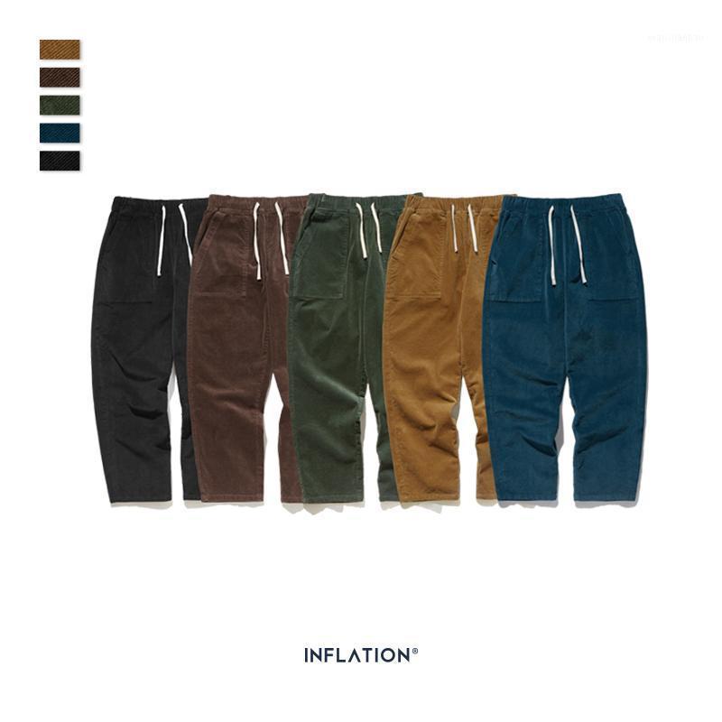 2019 Koleksiyon Erkekler Casual Pantolon Geniş Wale Erkekler Kadife Gevşek Fit Tulumları Stacks Stacks Katı Renk Kadrutu Pantolon 93325W1
