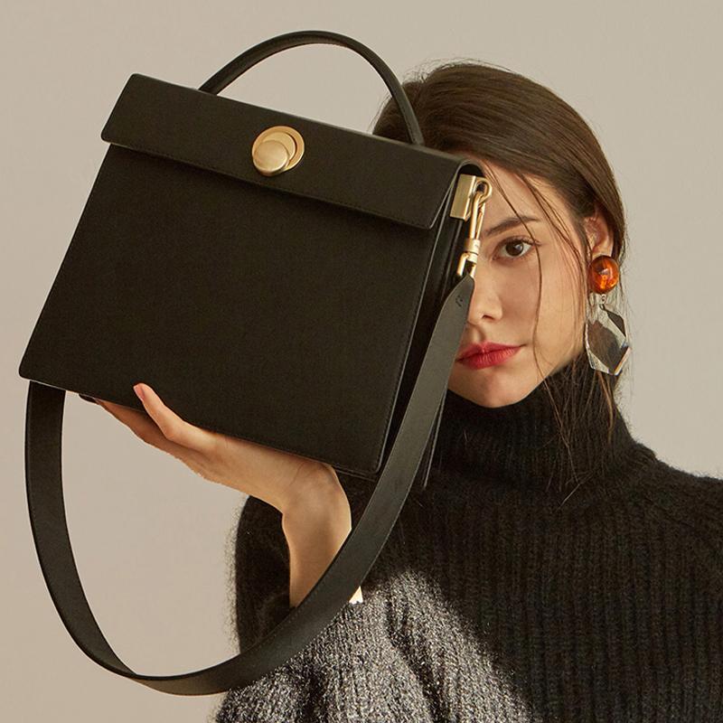 Borse a tracolla femmina quadrate con bordi crossbody messenger borsa in pelle di lusso PU Lady Grand Aleta Borsers 2020