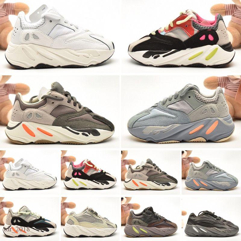 2021 Scarpe per bambini West Wave Wave Runner 700s Boys Girls Scarpe Light Trainer Boys Sneakers Scarpe da ginnastica Athletic Scarpe