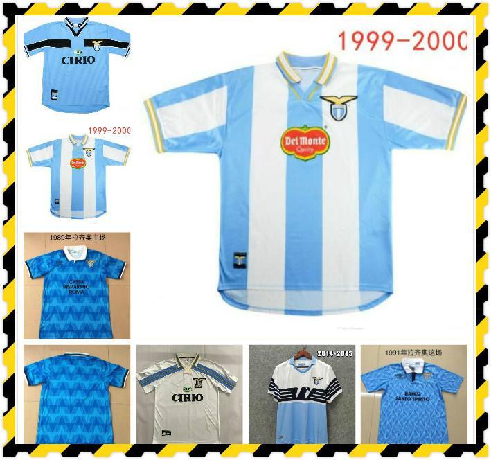 2000 2001 Retro Lazio Soccer Jerseys 10 Crespo 9 Salas 11 Mihajlovic 21 Inzaghi Maglia da Calcio 00 01 Vintage Football Shirts