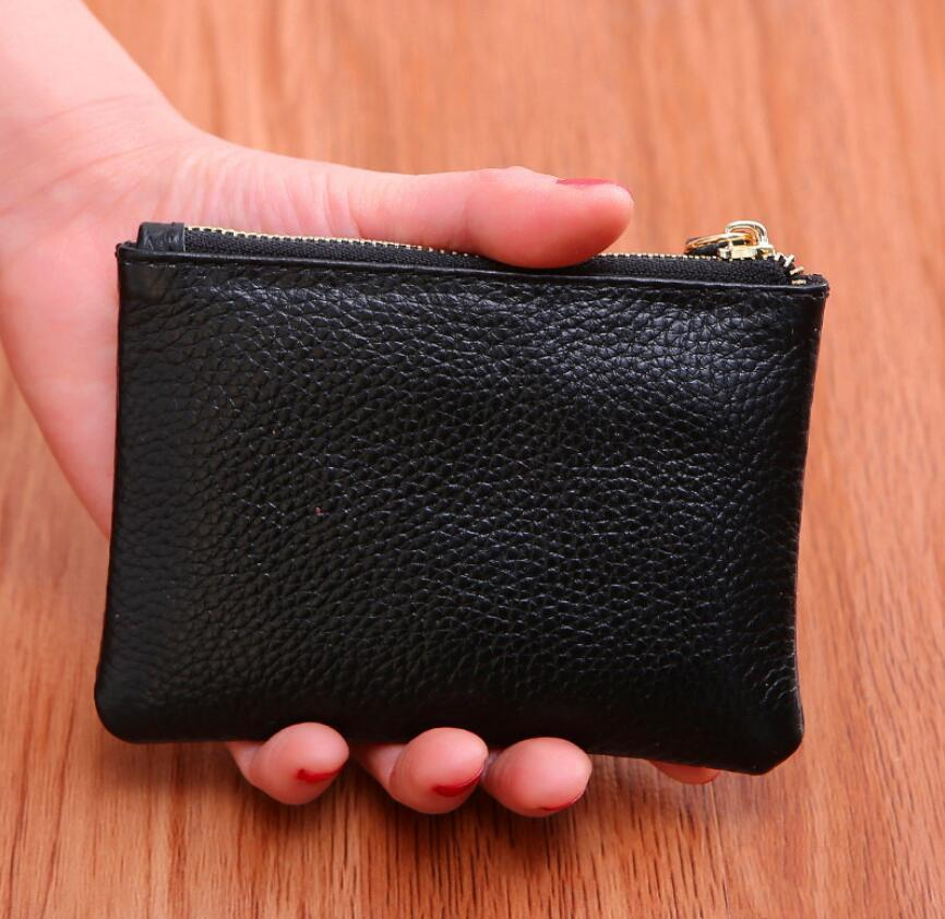 Mini Wallet Men Women Leather Purse Solid Color Simply Coin Key Pocket Wallets Card Coin Storage Purse Durable Unisex Wallet BEC4061