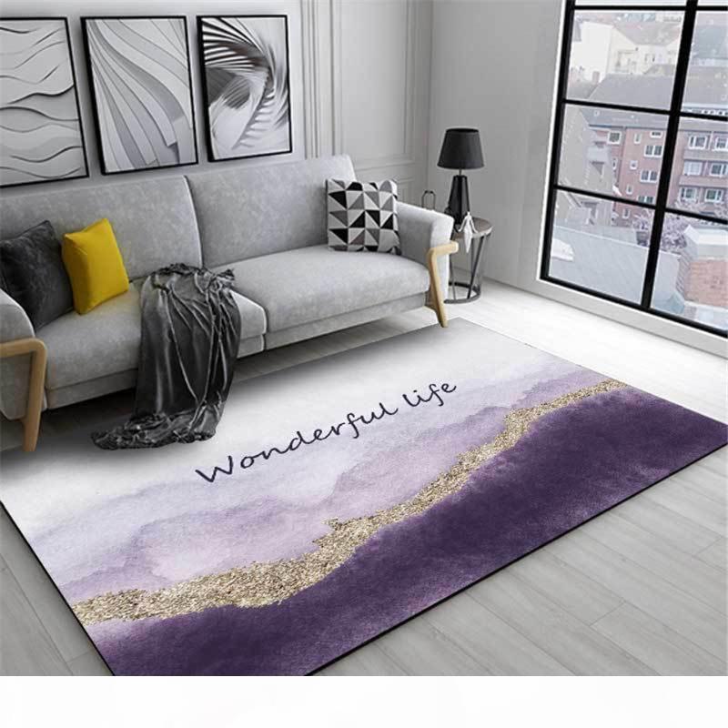 Wishstar Nordic Luxury Gray Purple Gold Carpet Girls Room Bed Rugs Long Carpet For Kitchen Floor Doormat Hallway Decor