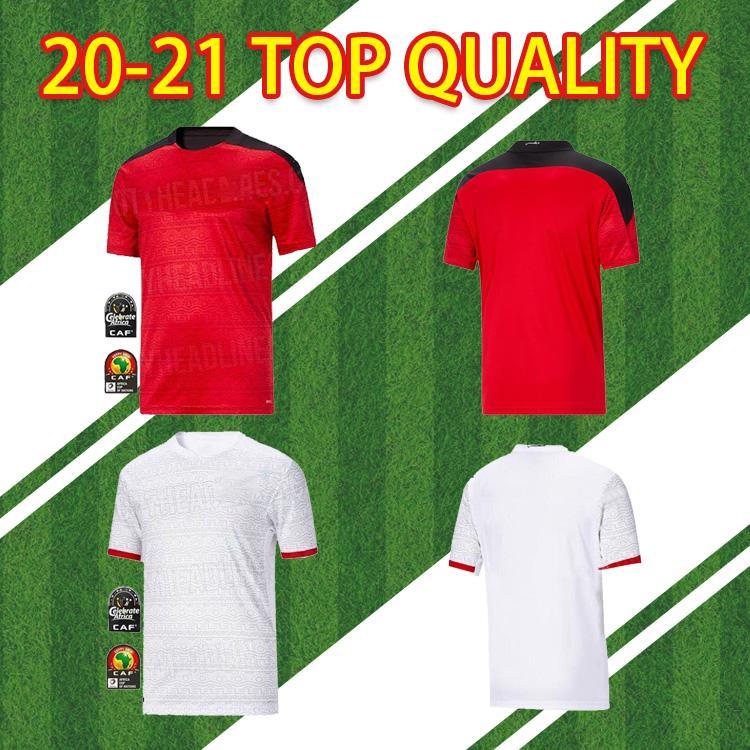 2020 مصر م. صلاح تايلاندية جودة عالية لكرة القدم قمصان المنزل 20 21 Kahraba A. Hegazi رمضان فريق كرة القدم القومي