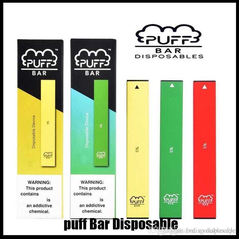 Puff Bar Einweggerät Neue Version mit Pfeil Leerer Pod Starter Kit 280mAh Batterie Vape Stift DHL frei