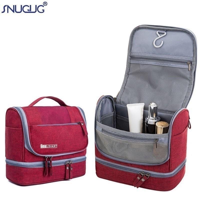 Nouveaux sacs cosmétiques d'Oxford imperméables pour hommes et femmes maquillage portable sac de toilette double couche organisateur Beauty sac cas Y200714