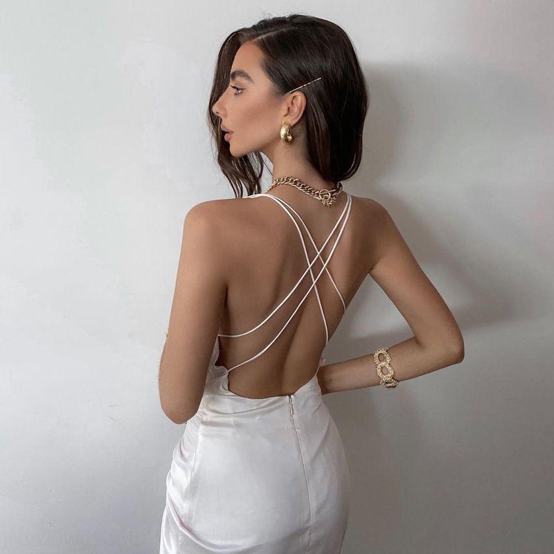2R0w 5MK8 Mesh Summer Sleeveless Midi Wear Dress Backless Shipping Women Club Dress Bodycon Elegant 2017 Party Dresses Free Sexy
