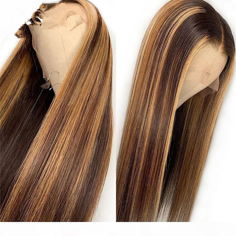 HD transparent farbiges menschliches haarperücken vorgepftet teil spitze vorne menschliche haare wigs ombre highlight frontal perücke für schwarze frauen 150%