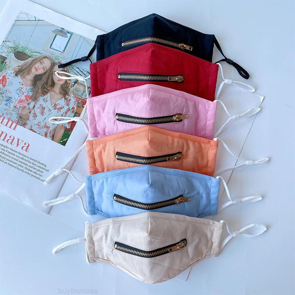 Ajustável 2020 Algodão Crianças Crianças 2 Com Zipper 1 Máscara Facial à Prova Dust Improof Máscaras de Designer de Proteção Lavável 6 W1