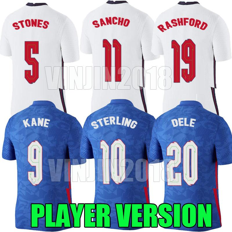 2020 2021 Versione giocatore Home Soccer Jerseys 20 21 Kane Sterling Sancho Rashford De Dele Inglaterra Camisetas de Fútbol Team Nazionale