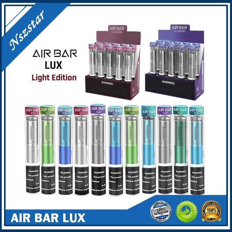 Air Bar Lux Light Edition Descartável Vape Pen 1000 Puffs 650mAh Bateria 3ml Airbar PODs Vapor Stick Dispositivos E Cigarros Vaporizadores Kits DHL