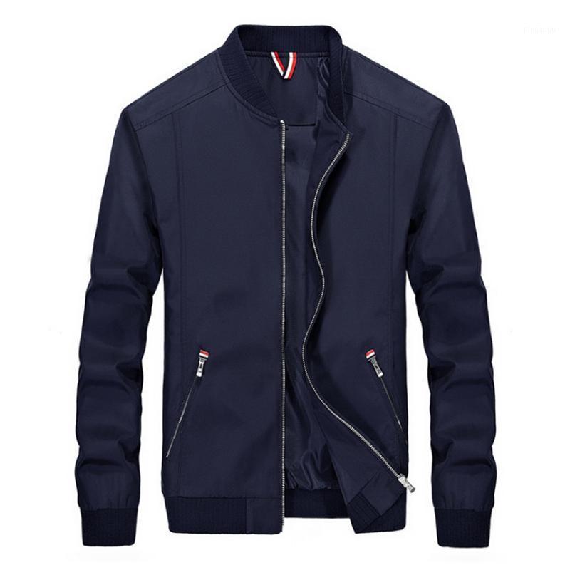 Giacche da uomo 2021 Giacca da primavera Uomo Moda Slim fit sottile cerniera impermeabile Casual Outwear Maschio Casaco Masculino 4xL1