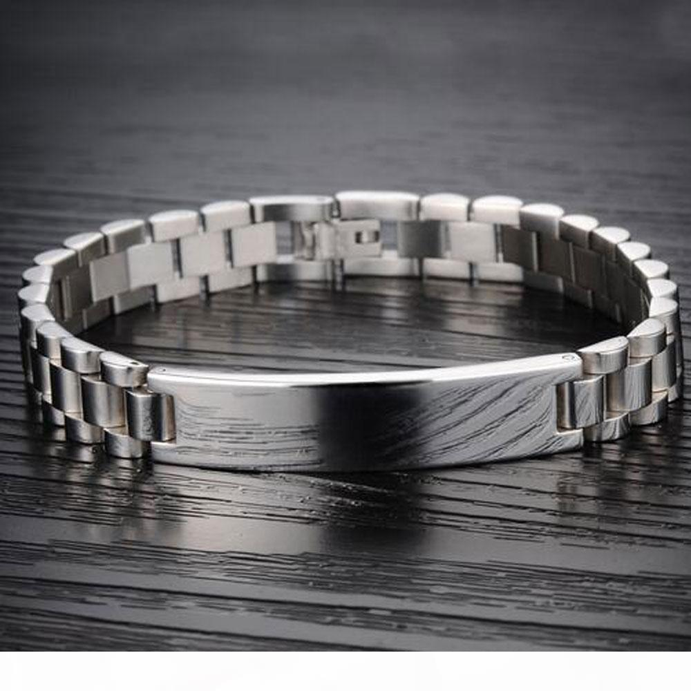 high end K 10mm Id Cuban Bracelets Charm 316l Stainless Steel Bracelet For Men Women Hip Hop Jewelry Gifts Adjustable Length