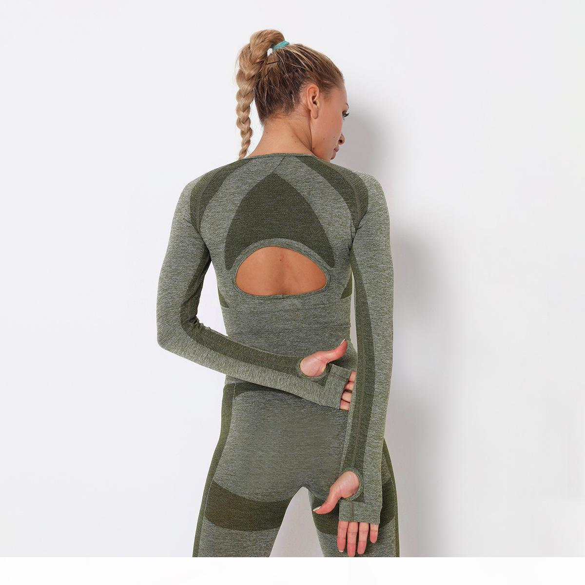 Designer autunno yoga sportswear tuta titoli fitness 2pcs leggings full leggings due pezzi set abiti all'aperto sport backless gymshark abbigliamento womans