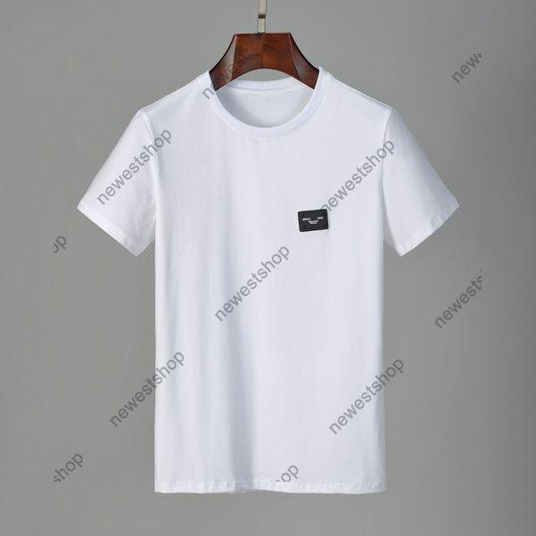 Sommer 2021 Neue Designer Herren Kleidung T-Shirt Farbe Abzeichen Klassischer Brief Casual T-Shirt Frauen Luxus T-Shirt Kleid T-Shirt Tops