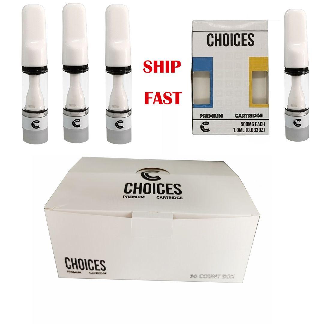 Полный керамический выбор Snap на картриджах для ручек Vape упаковка 0,5 мл толстого масла голограмма поле 510 резьбовые распылители пользовательских логотипов E CIG