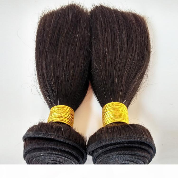 8A Stratégie vierge péruvienne non traitée droite 8 10 12inch Couleur naturelle 3 Bundles Soft Beauté Brésilien Remy Indien Remy Extensions de cheveux humains
