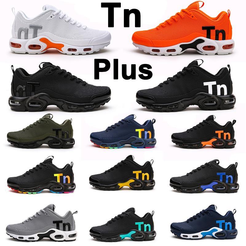 TN KPU MERCURIAL TN Ayarlı Artı Erkekler Koşu Ayakkabıları Üçlü Siyah Beyaz Erkek Kadın eğitmenler açık havada spor sneaker 40-46