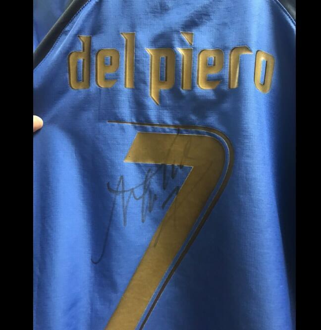 ALESSANDRO DEL Piero очень хорошее качество коллекции лучшего качества подписано под подпись рубашки с автографом