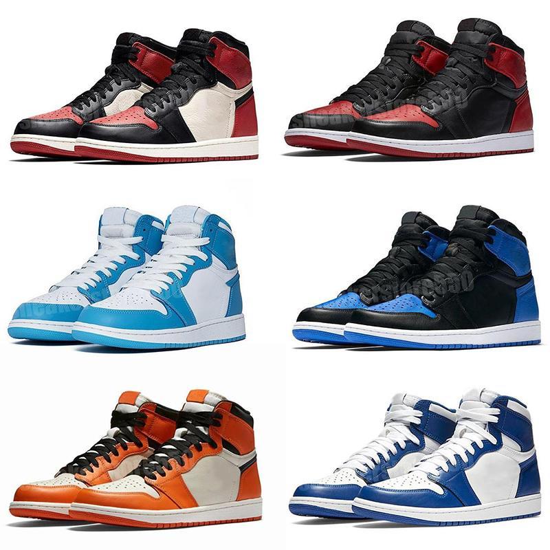 1s High og Travis Scotts Scarpe da basket Jumpman UNC 1 Top 3 mens omaggio a casa Royal Blue Men Sport Designer Sneakers Scarpe da ginnastica Scarpe da ginnastica