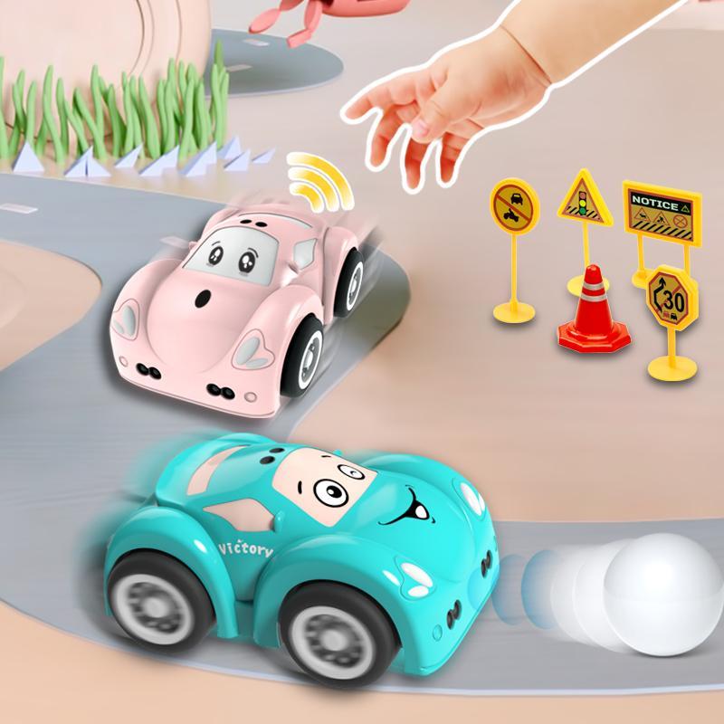 Mini Cute RC автомобиль детская игрушка автомобиль ручной контроль звуковой световой музыки зарядки индуктивных препятствий предотвращения после игрушечного автомобиля 201218