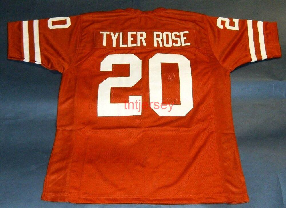 Barato Personalizado Earl Campbell Texas Longhorns Jersey UT Tyler Rose cosido Agregar cualquier número de nombre