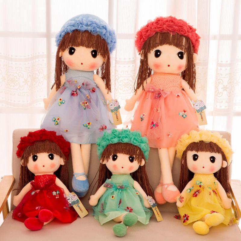 45-65cm Kawaii ausgestopfte Plüschpuppe Kinder Spielzeug für Mädchen Kinder Schöne Baby Plüsch Puppe Princess Plüschtiere Mädchen Geburtstagsgeschenke F1216