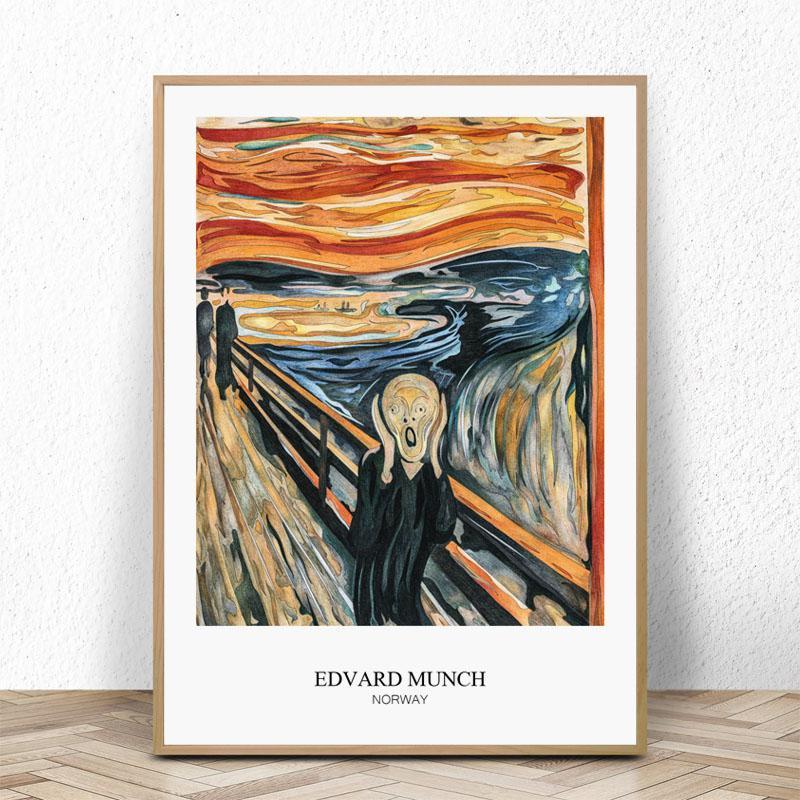2021 The Scream By Edvard Munch Art Print Poster Canvas