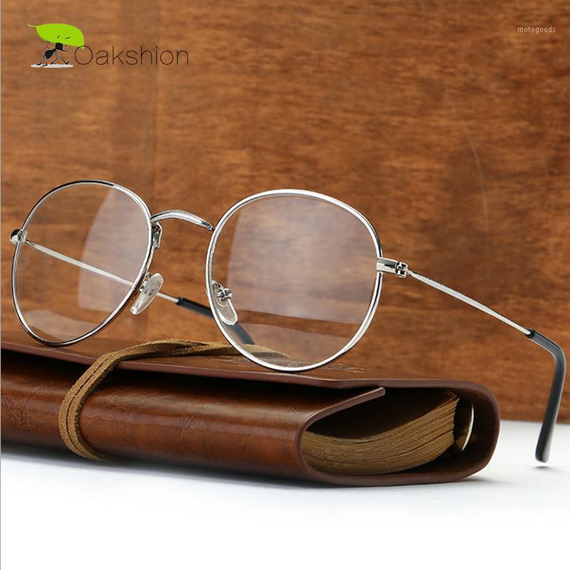 Moda Temizle Güneş Gözlüğü Metal Yuvarlak Altın Çerçeve Temizle Gözlük Kadın Erkek Marka Tasarımcısı Koleji Nerd Vintage Lens Lunette1