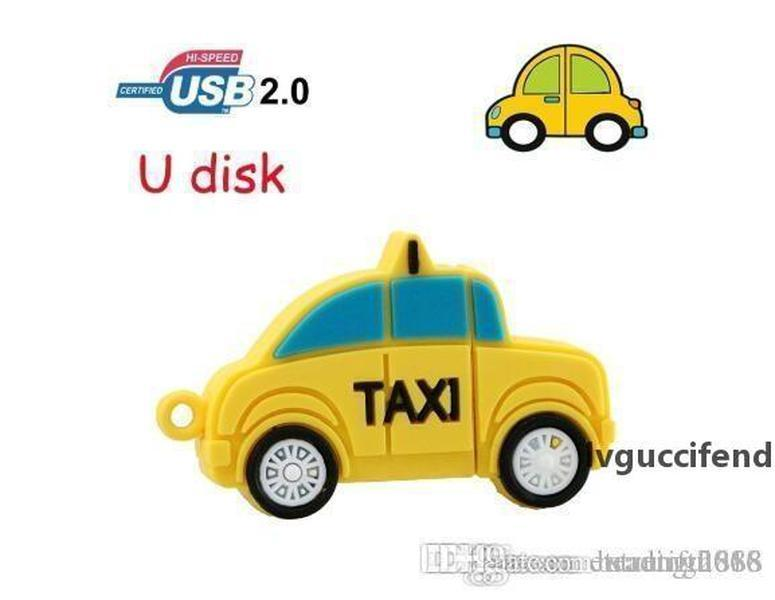 Новый USB-флэш-накопитель 64 ГБ такси автомобиль Pen Drive 4 ГБ 8 ГБ 16 ГБ 32 ГБ USB Memory Stick Thumb Pendrive Лучший творческий подарок
