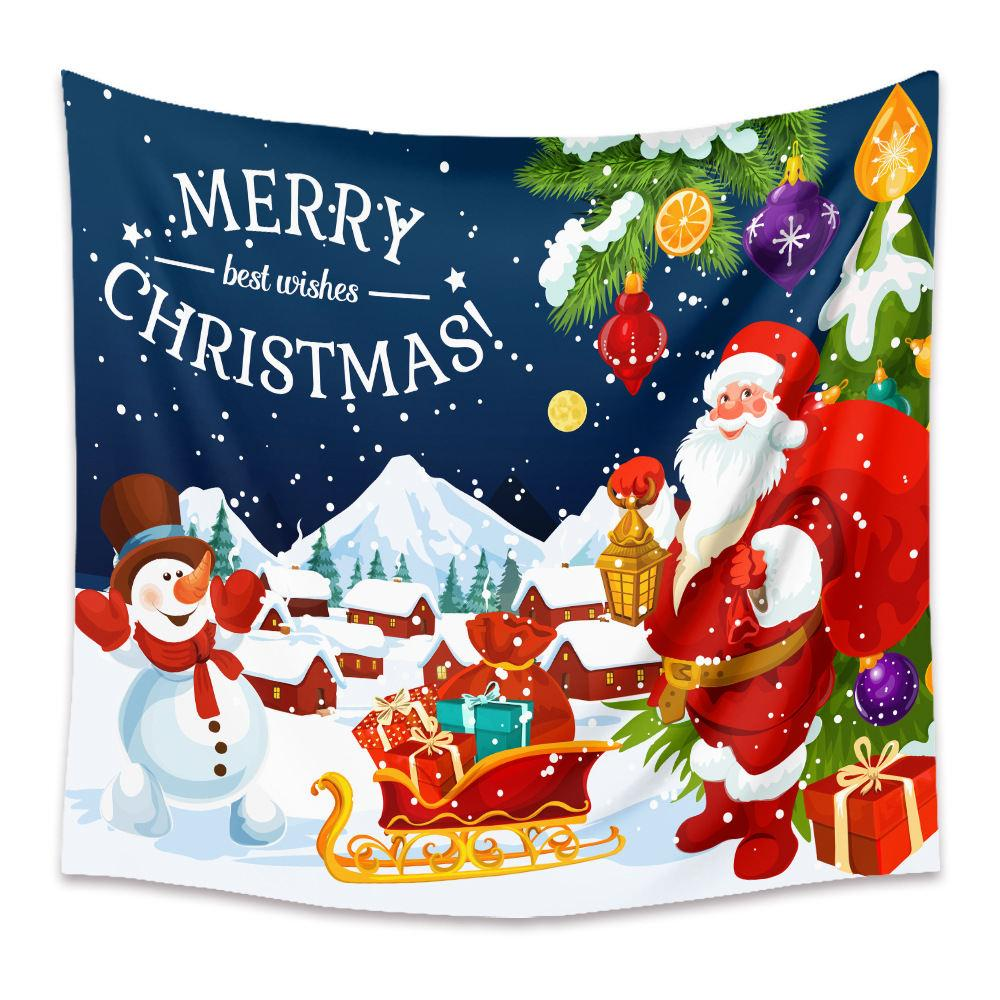 Tapeçaria Home Dormitório Decoração Da Parede Série de Natal Árvore de Natal Home Quarto Decoração Fundo Pano Pintura Praia Toalha