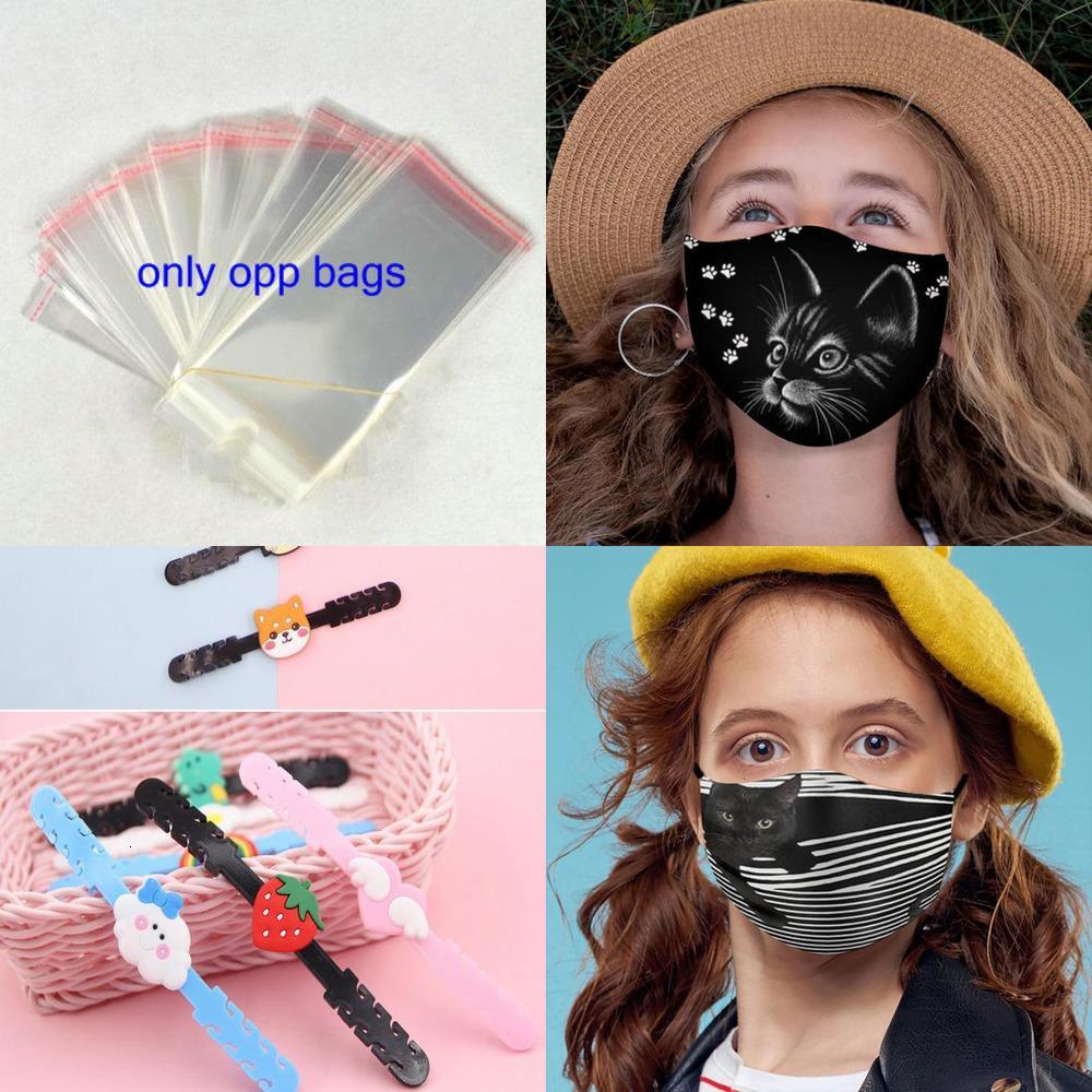 Maschera per gatti per bambini all'aperto carino per maschera viso ragazze antipolvere sabbia scarico scarico solare bandaggio regolabile traspirante cyclc1