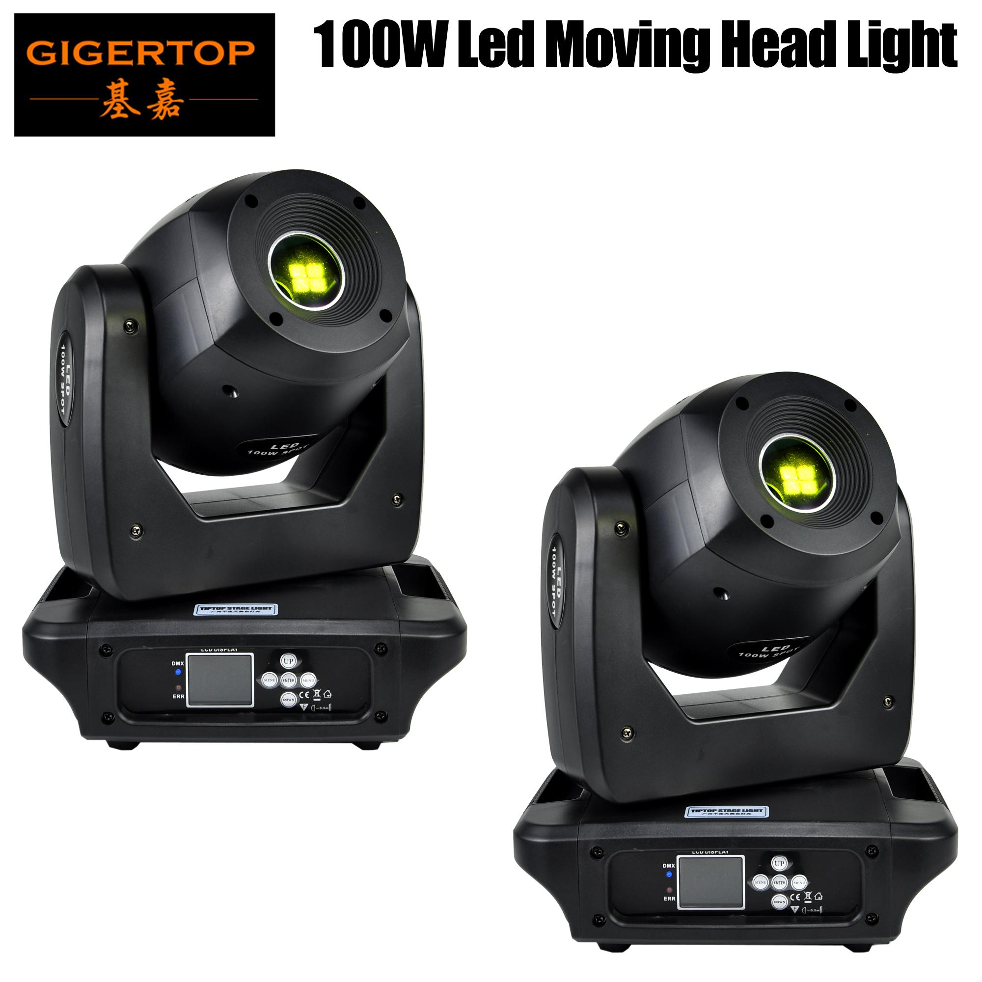 TIPTOP 2Lot 2019 새로운 100W LED RGBW 무대 조명 조명 헤드 라이트를 이동하는 13 개 채널 DMX DJ 무대 디스코 빛 파티 축제 장식