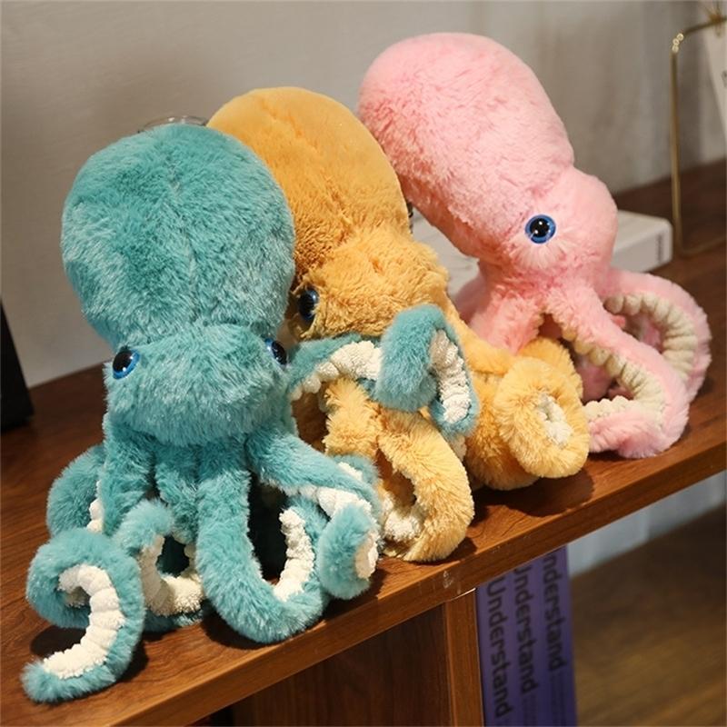Krake Plüsch Peluches Grandes Niedliche Simulation Tierkreuzung Spielzeug gefüllt Gefüllte Tiere Anhänger Cartoon Tier Dekoration 201214