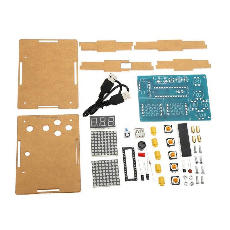DIY Game Board Kit 51 SCM Chip Retro Electronic Паяльная практика Консольный комплект