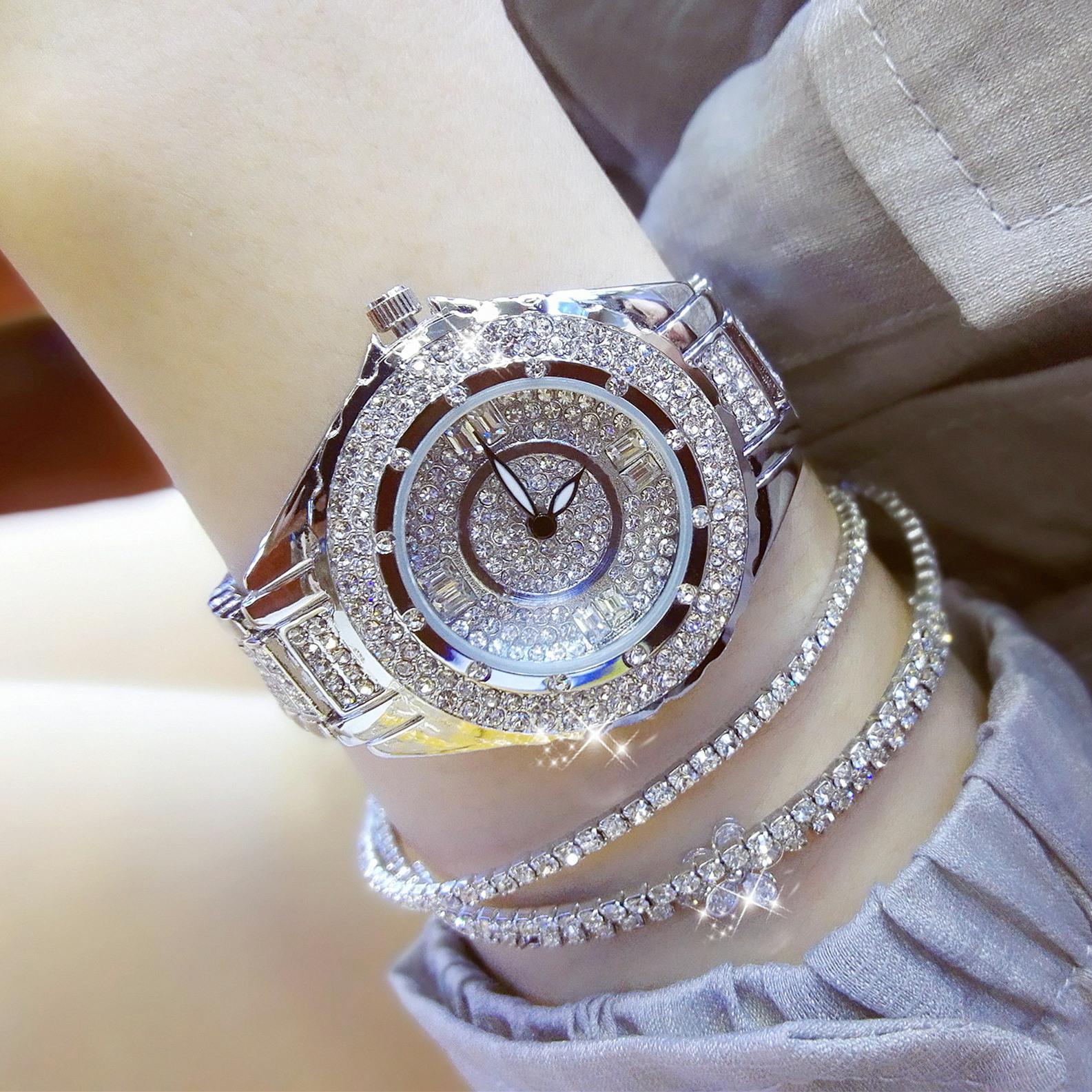 Kar kadın moda su geçirmez yüksek dereceli tam matkap kuvars saatler kız arkadaşı hediye