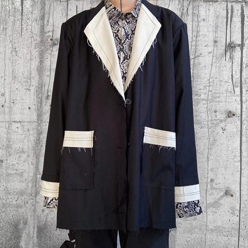 Renk Cepler Takım Elbise Erkekler Ve Kadınlar V Boyun Boy Streetwear Rüzgarlık Ceket Hip Hop Gevşek Ceket