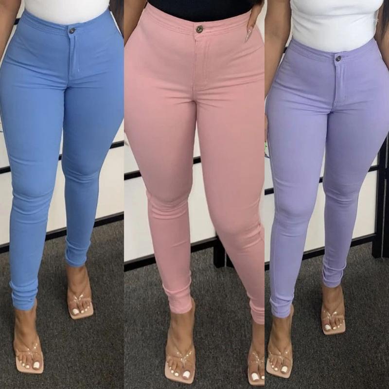 Женские брюки 2020 высокая талия стрейч тонкий карандаш брюки женские одежда брюки сексуальные женщины леди плюс размер тощих брюк # 31