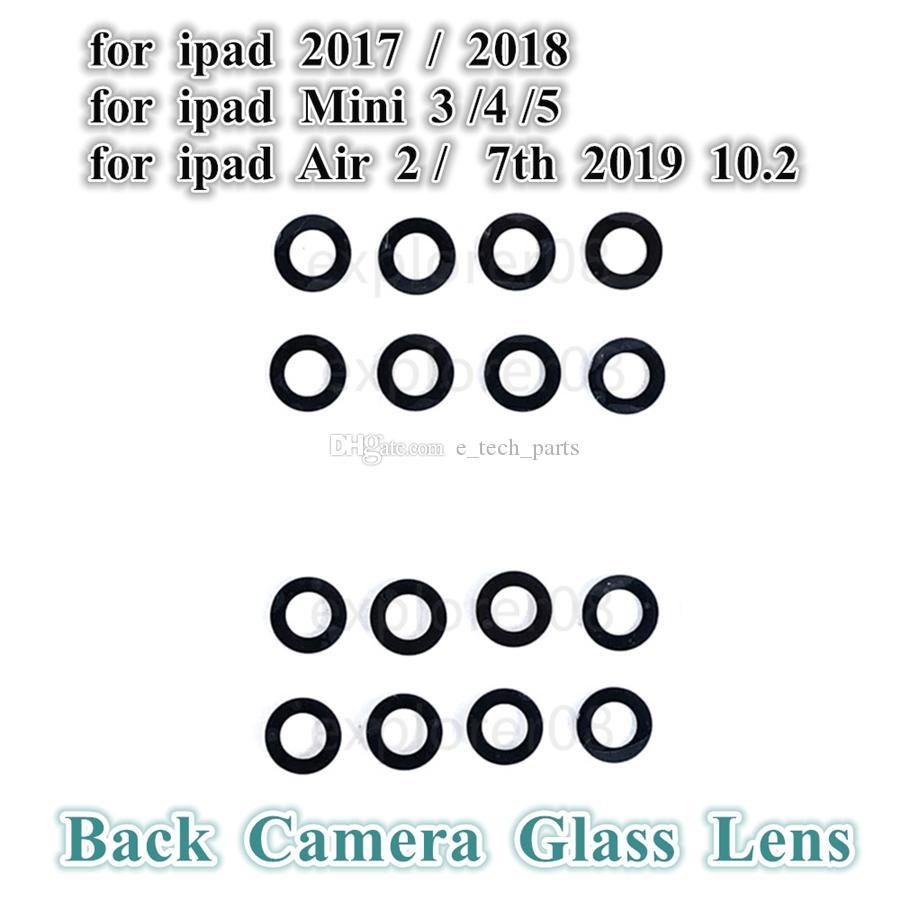 20 pcs traseiro traseiro câmera de vidro lente sem moldura para ipad 2017 2018 ar 2 7th 10.2 2019 mini 3 4 5 lente de câmera sem peças de substituição de quadro