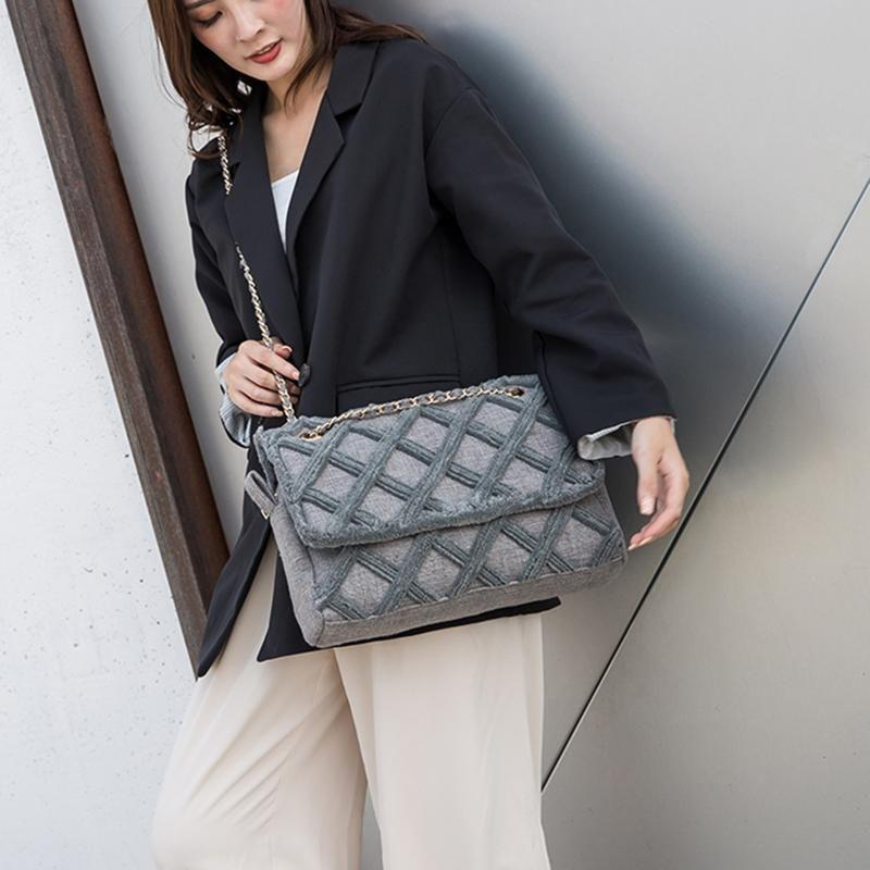 2020 Femmes matelassées Femmes Voyage Femme Sac Toile Sacs de créateurs de luxe de luxe