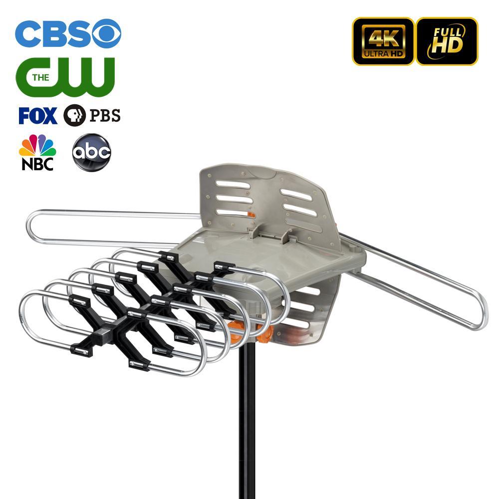 Корабль из США HDTV антенна усиленная цифровая телевизор антенна 150 миль диапазон 360 градусов на открытом воздухе на открытом воздухе