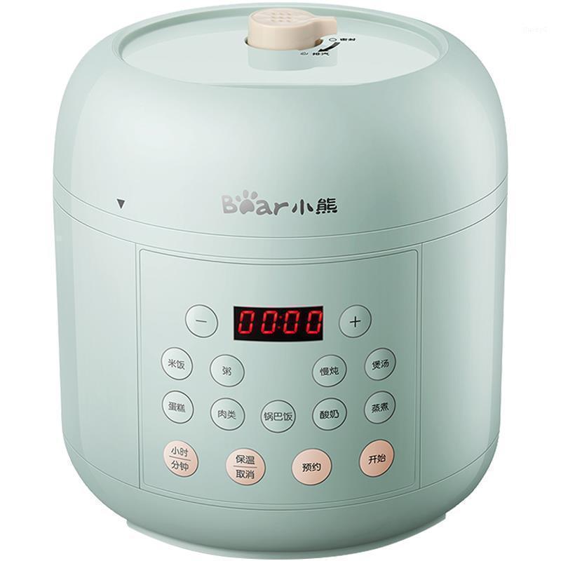 طباخات الأرز المنزلية متعددة الوظائف طباخ ضغط كهربائي 2L مصغرة الذكية الغذاء الحساء صانع وعاء ل 2-4 الناس 220V1