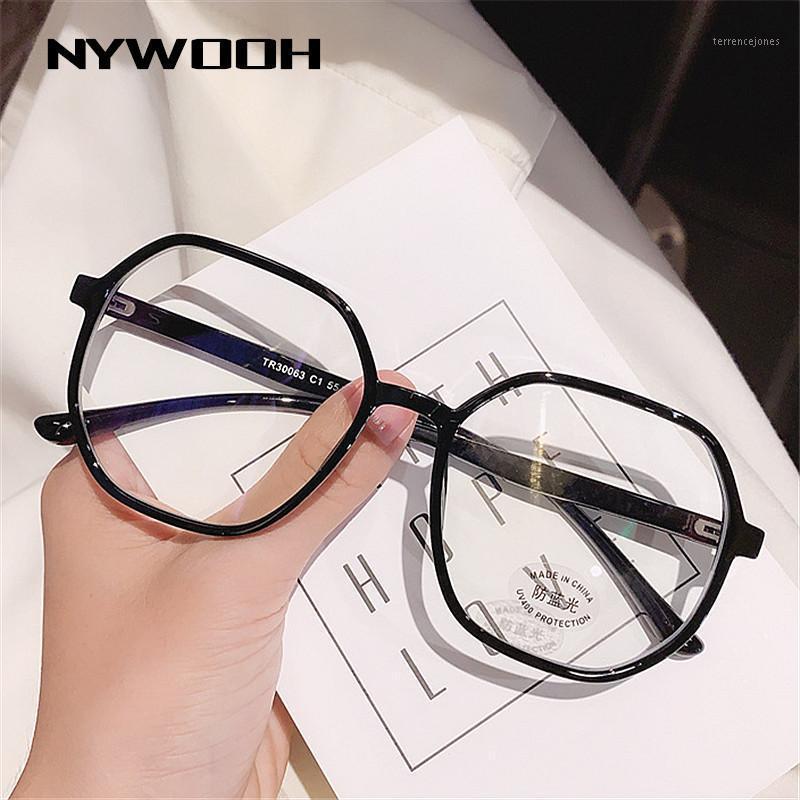 Sonnenbrille NYWOOH Blaue Lichtgläser Klar Computer Gaming Frame Mode Frauen Eyewear Comfort Anti Ray Brillen für Männer