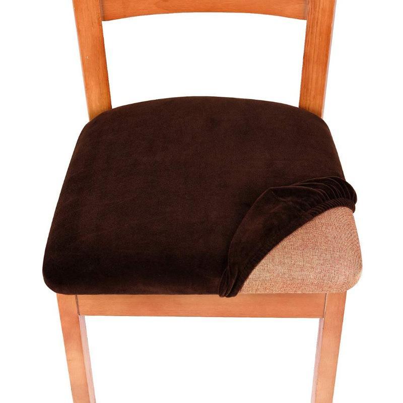 Removível cadeira lavável cobre cadeira de veludo doméstico Cadeiras de jantar almofada Elastic Winter Spandex Spandex Casa de assento à prova doninha Novo 7ZF M2