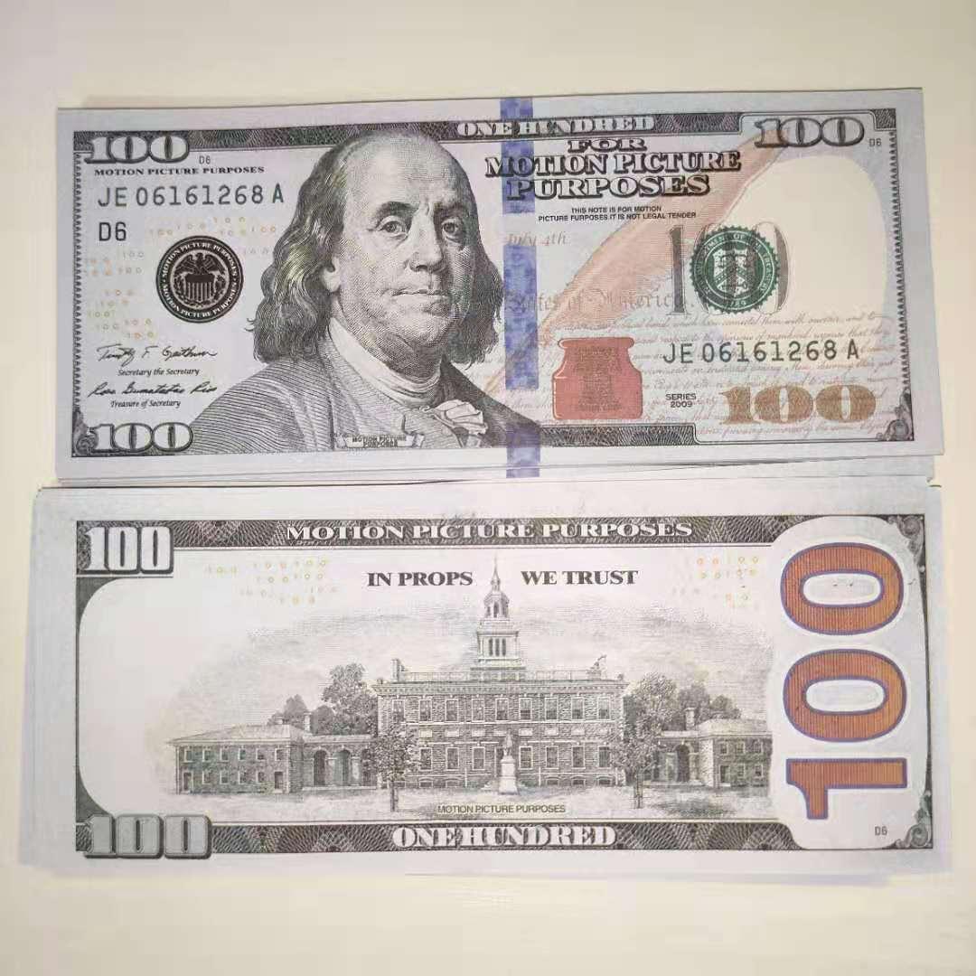 17 Bar PROP MONEDA SIMULACIÓN VENDIENDA CALIENTE 100 DOLLARES FAKE MONEY TOY MONEDA COLICITURAS Y TELEVISIÓN DE TELEVISIÓN PRÁCTICA PRÁCTICA