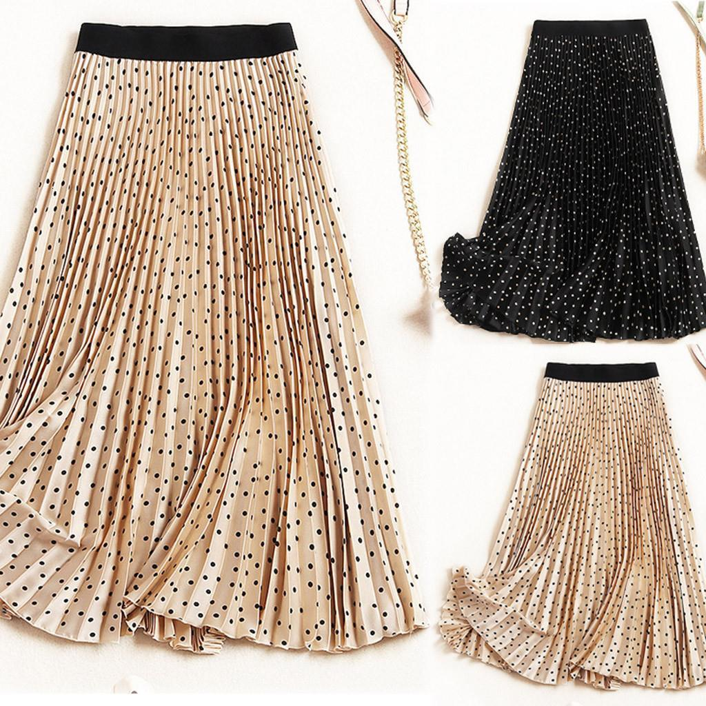 40# Women Long Skirts Pleated Maxi Skirts Beach Boho Vintage Summer faldas mujer moda Drop Shipping