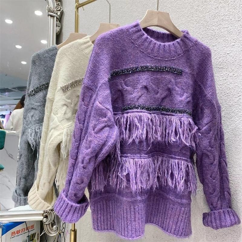 Moda tailandesa marca nova indústria pesada blânth suéter para inverno 2020