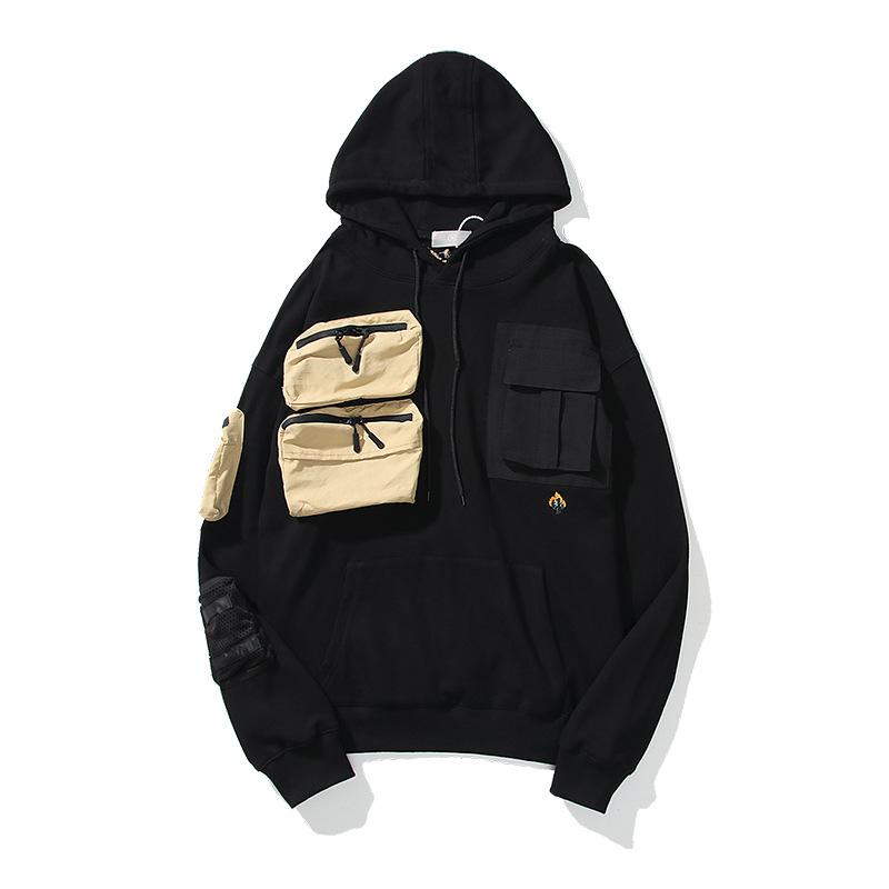 Men Stylist More Pocket Hoodie Spring Fashion Letter Embroidery Hoodie Sweatshirts Man Long Sleeve Womens Hoodie Pullover Hiphop Clothes BB