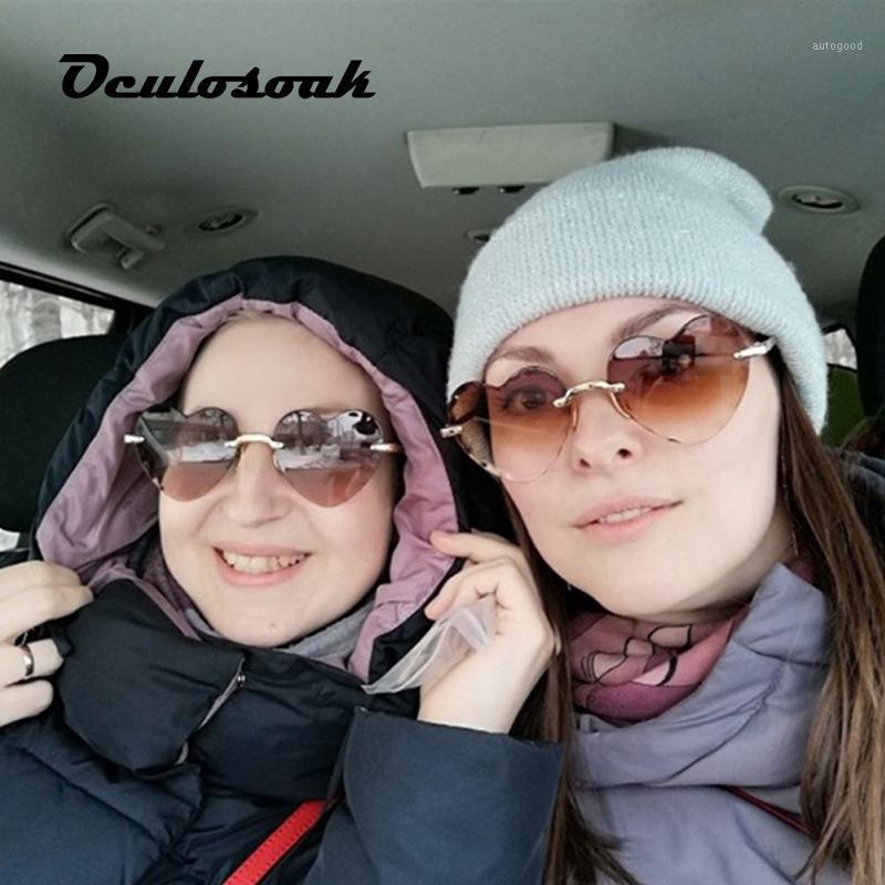 Родитель-ребенок Новая мода любовь солнцезащитные очки женщин и мужчин вырезать края безрамоглазные солнцезащитные очки персик сердца формы UV4001