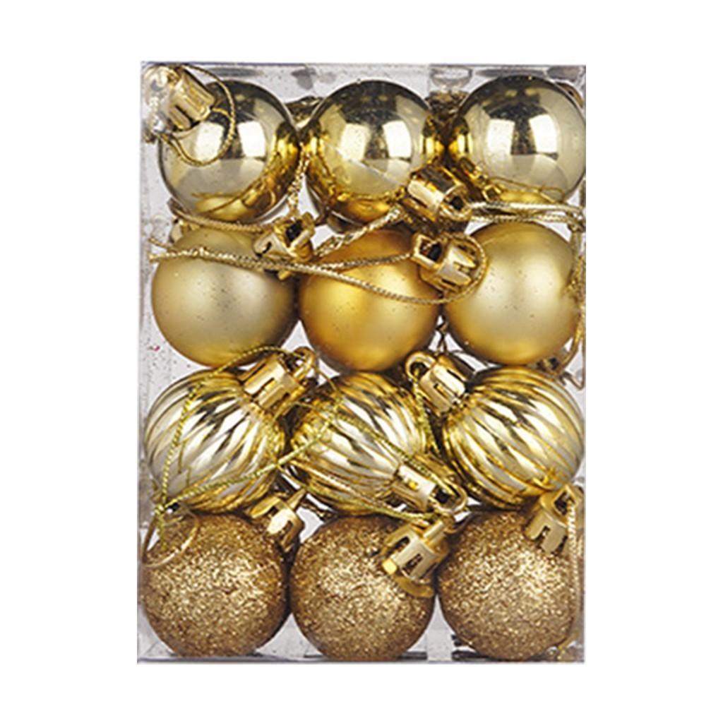 24 PCS 30 mm Navidad Árbol de Navidad Bola Chuchería Colgando Hogar Partido Regalo Regalo Presente Caja Decoración de decoración # 3 y201020
